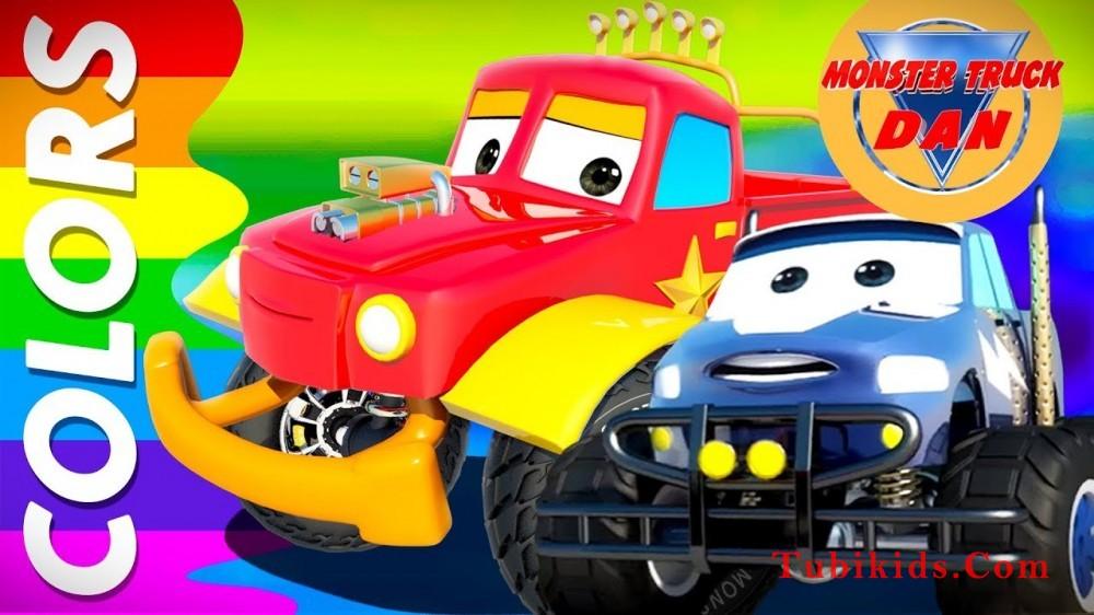 Color Song Monster Truck Dan Video For Children - Color Song | Monster Truck Dan Video For Children