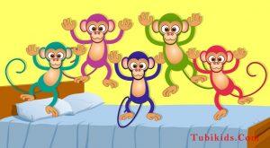 Five Little Monkeys kids songs nursery rhymes kids tv kids tv songs 5 lil monkeys 300x165 - Five Little Monkeys   kids songs   nursery rhymes   kids tv   kids tv songs   5 lil monkeys