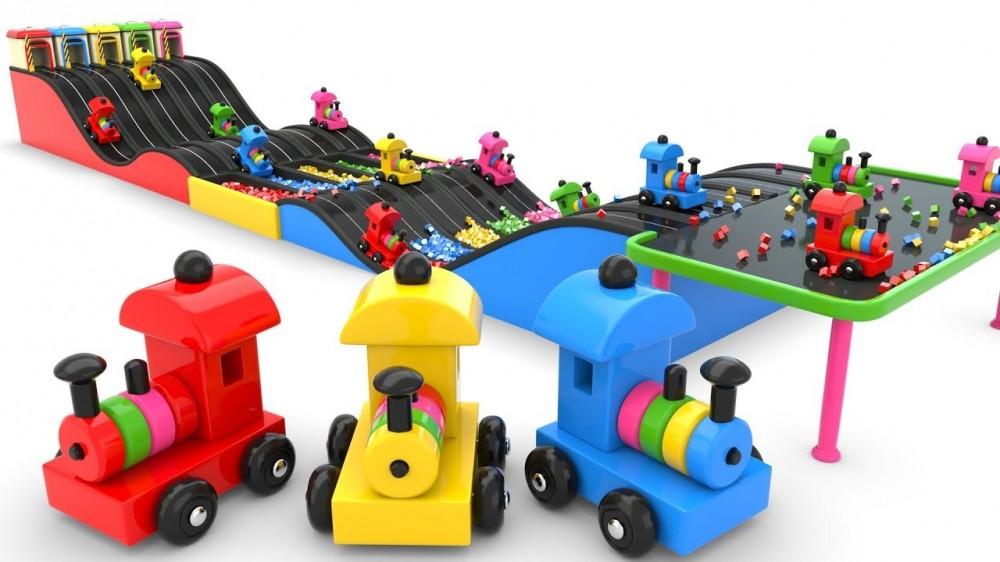Fun Preschool Toy Train Play on Toy Slider - Fun Preschool Toy Train Play on Toy Slider