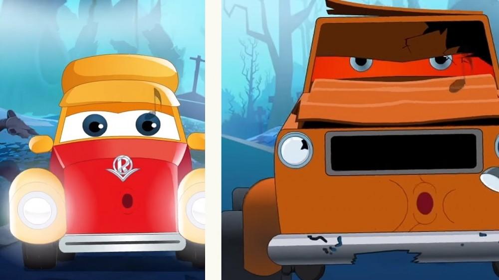 Halloween Videos Super Car Royce Cartoons by Kids Channel - Halloween Videos   Super Car Royce   Cartoons by Kids Channel