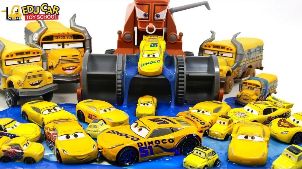 Learning Color number Disney Pixar Cars Lightning McQueen Mack Truck slime Play for kids car toys - Learning Color number Disney Pixar Cars Lightning McQueen Mack Truck slime Play for kids car toys