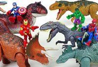 Marvel Avengers Hulk Spider Man Ride Jurassic World dinosaurs and defeat villains DuDuPopTOY 200x137 - Marvel Avengers Hulk, Spider Man! Ride Jurassic World dinosaurs and defeat villains! - DuDuPopTOY