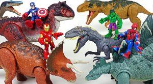 Marvel Avengers Hulk Spider Man Ride Jurassic World dinosaurs and defeat villains DuDuPopTOY 300x165 - Marvel Avengers Hulk, Spider Man! Ride Jurassic World dinosaurs and defeat villains! - DuDuPopTOY