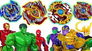 Marvel Avengers and Villain39s Beyblade burst Super Z battle Hulk Thanos Iron Man DuDuPopTOY 300x165 - Marvel Avengers and Villain's Beyblade burst Super Z battle!: Hulk, Thanos, Iron Man! - DuDuPopTOY