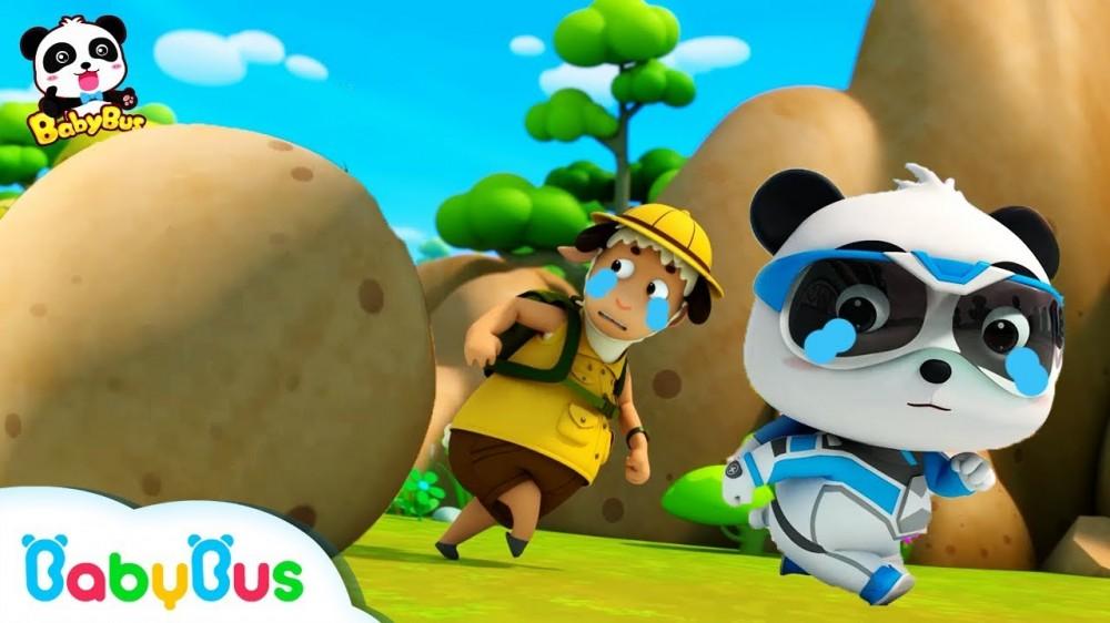 Run Super Panda A Big Stone Super Panda Rescue Team Super TrainMonster Car BabyBus Cartoon - Run! Super Panda! A Big Stone | Super Panda Rescue Team | Super Train,Monster Car | BabyBus Cartoon